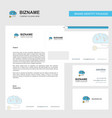brain circuit business letterhead envelope and vector image vector image