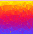 bright abstract background of triangles vector image