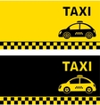 business card and retro taxi car vector image vector image