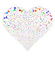 cemetery fireworks heart vector image vector image