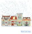 christmas and new year house invitation card vector image vector image