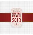 christmas big sale greeting tag element vector image vector image
