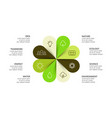 circle arrows flower infographic cycle vector image vector image