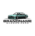 classic car logo template vector image