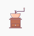 coffee grinder simple icon isolated vector image vector image