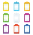 color tags set vector image vector image