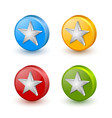 colorful star icons placed on white background vector image vector image
