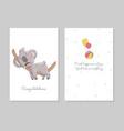cute koala sleeps hand drawn doodle poster vector image