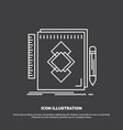 design tool identity draw development icon line vector image
