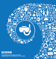 Diving mask icon sign Nice set of beautiful icons vector image