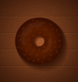 donut chocolate full vector image vector image