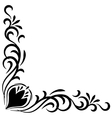 Doodle abstract handdrawn flower corner frame vector image