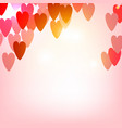 elegant background with hearts valentine s vector image vector image