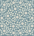 elegant pattern with cute flowers and leaves vector image vector image