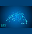 estonia map with nodes linked by lines concept of vector image vector image