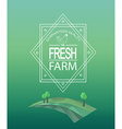 farm fresh logotype vector image vector image