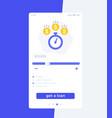 fast loan app mobile ui design vector image