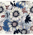 floral seamless background with flowers vector image