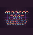 font 80s vector image