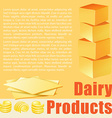 Food theme with dairy products vector image vector image