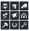 Forge icons vector image vector image