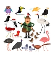 Fowling Birds and Hunter vector image