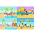 freelancers collection seaside vector image