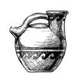 greek vase askos vector image vector image