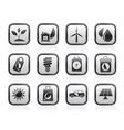 Green and Environment Icons vector image