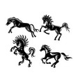 horse ornament silhouette vector image