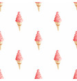 ice cream seamless pattern ice vector image