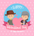 international day older persons banner vector image vector image