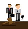 lawyer job vector image