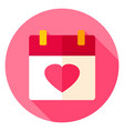 love calendar circle icon vector image