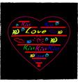 love hearts sketchy doodles design elements on vector image vector image