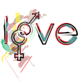 Love symbols vector image