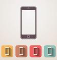 New smartphone flat icons set fadding shadow vector image