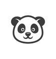 panda head cartoon icon images vector image