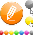 Pencil glossy button vector image vector image