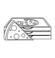 pizza silhouette vector image