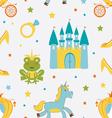 Princess frog pattern vector image vector image