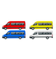 realistic set of van template isolated passenger vector image