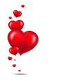 Red Hearts Border vector image vector image