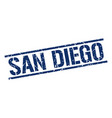 san diego blue square stamp vector image vector image