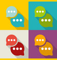 set of colorful speech bubble with shadow in flat vector image