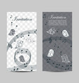 set vertical banners with singing birds vector image