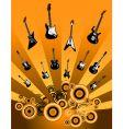 shooting guitars vector image vector image