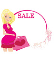 shopping for baby vector image vector image
