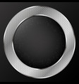 silver metal circle design vector image vector image