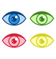 simple eye icons set vector image